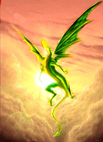 Green dragon rising for mating flight